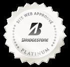Bridgestone a donné le label site approuvé à 1001pneus