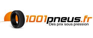 Le logo de 1001pneus en 2009 avec une couleur orange.
