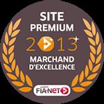 Label Marchand d'excellence décerné par Fia-net en 2013 à bonspneus.