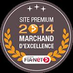 Label Marchand d'excellence décerné par Fia-net en 2014 à bonspneus.