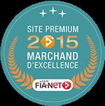 Label Marchand d'excellence décerné par Fia-net en 2015 à bonspneus.