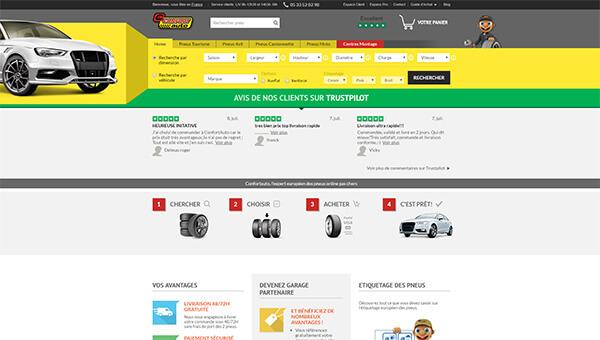 Page d'accueil du site confortauto.