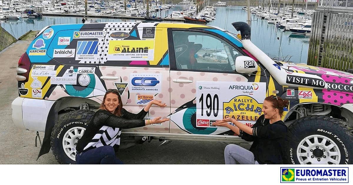 Sponsoring Euromaster au Rallye des gazelles.