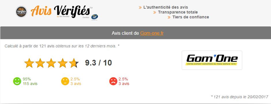Notes de Gom'one sur Avis Vérifiés.