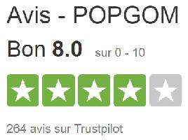 Avis de Popgom sur Trustpilot.