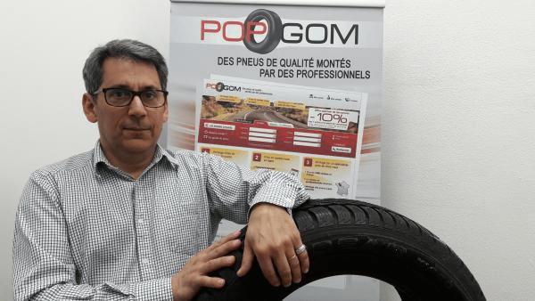 Christophe Tesseraud, fondateur de Popgom.
