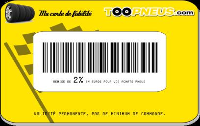 Carte de fidélité Toopneus.